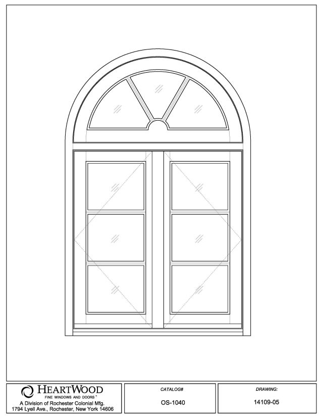 Casement windows french outswing casement half round for Half round transom