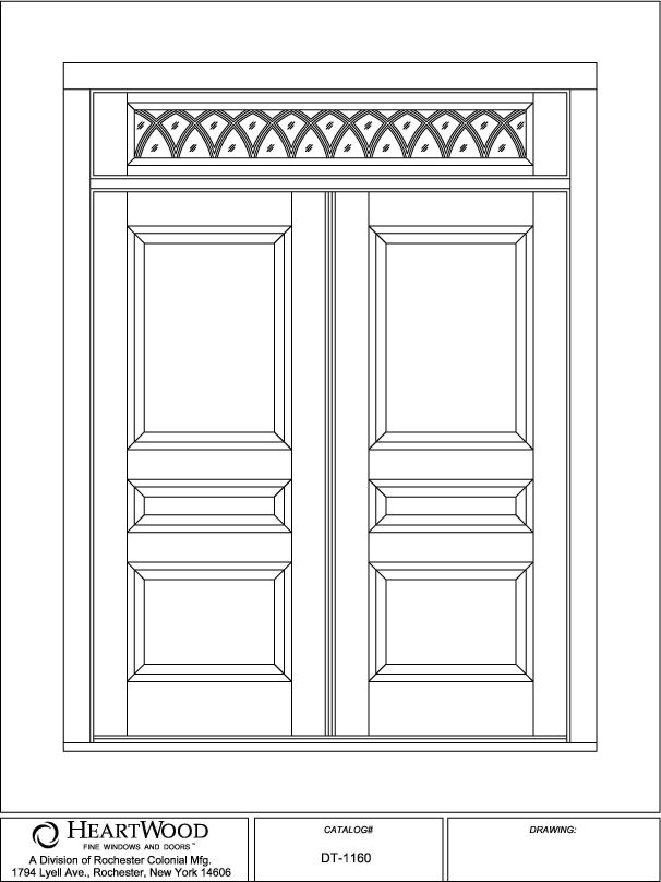Double Doors w/ Transom   custom wood double doors transom panel gothic raised SDL   HeartWood  sc 1 st  HeartWood Windows & Double Doors w/ Transom   custom wood double doors transom ...