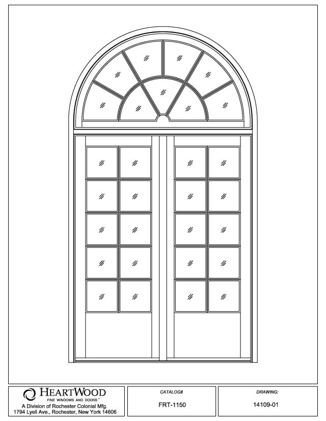 French doors custom wood double french doors for Half round transom