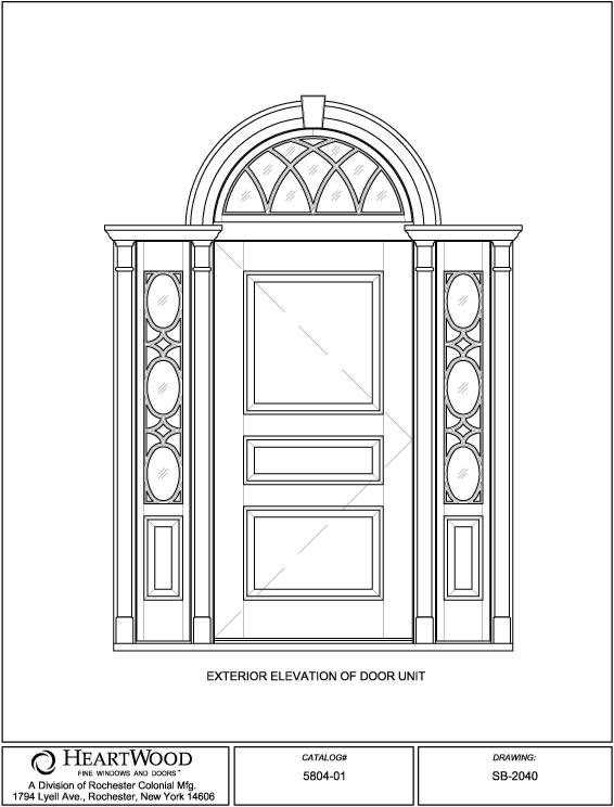 SB-2040.  sc 1 st  HeartWood Windows & Single Doors w/ Sidelites Transom   custom wood single sidelites ...