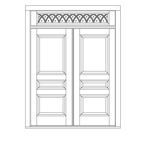 DT-1160  sc 1 st  HeartWood Windows and Doors & Double Doors w/ Transom | custom wood double doors transom ... pezcame.com