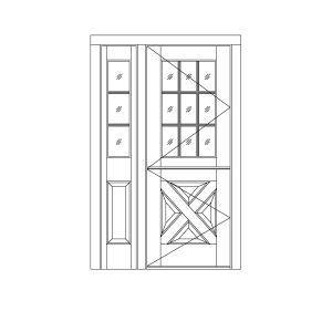 Single doors w sidelites custom wood single door for 9 lite crossbuck exterior door