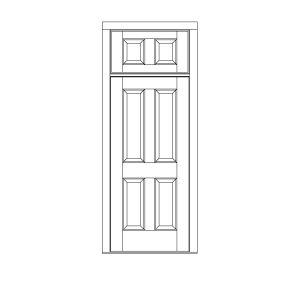 ST-1150  sc 1 st  HeartWood Windows & Single Doors w/ Transom | custom wood single door transom panel ...